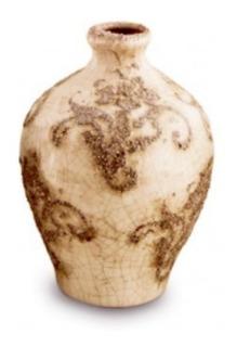 Florero De Ceramica Rustico Deco Chico