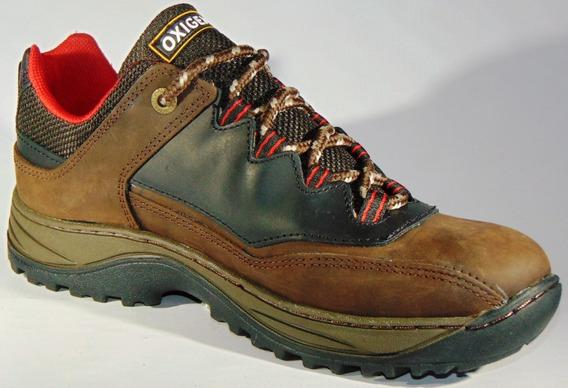 Zapatos Zapatillas Montaña Oxigeno Cuero Outdoor Art 570