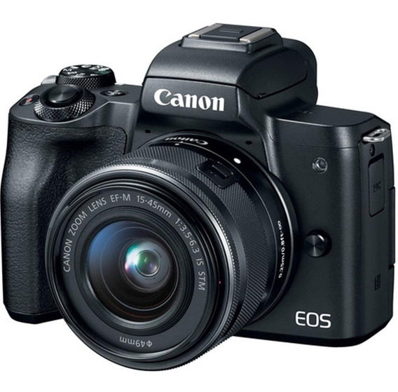 Camera Canon Eos M50 Kit 15-45mm Preto S/j