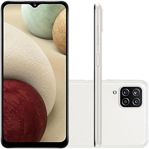 Celular Samsung Galaxy A12 Branco 64gb Cam 48mp 5mp 2mp 2mp