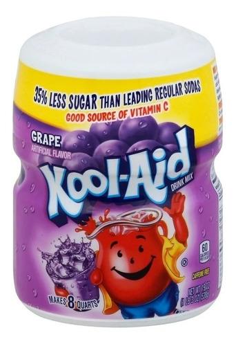 Imagen 1 de 1 de Polvo Para Bebida Sabor Uva Kool Aid Grape 538 Gr.