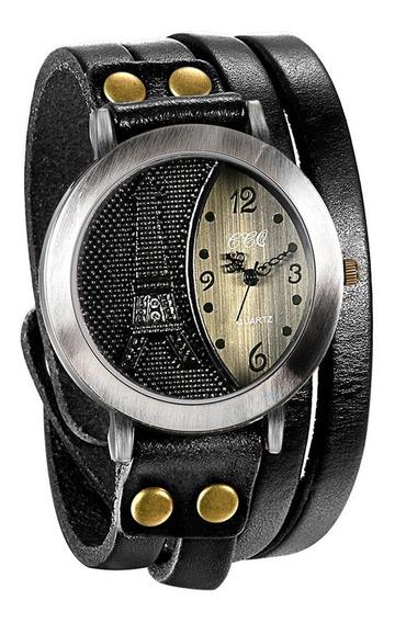 Relógio Bracelete Torre Eiffel Ccq (original) + Frete Grátis