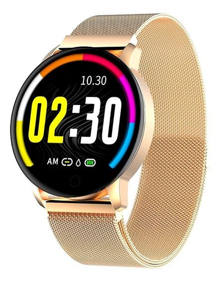 Reloj Smartwarch New Wear Gold Acero Fino Inoxidable #2020