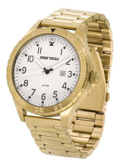 Relógio Mormaii Masculino Dourado Aço Mo2115an/4c