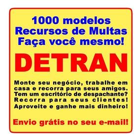 Detran - Kit 1000 Modelos De Recursos De Multas (download)