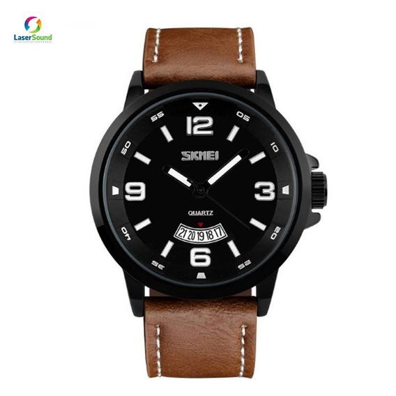 Relógio Masculino Skmei 9115 Marrom C/ Garantia E Nf