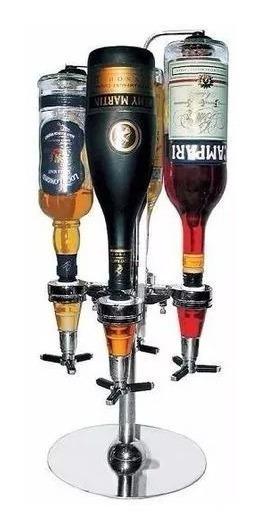 Dispenser Con Base Calesita Giratorio 4 Botellas Bar Butler