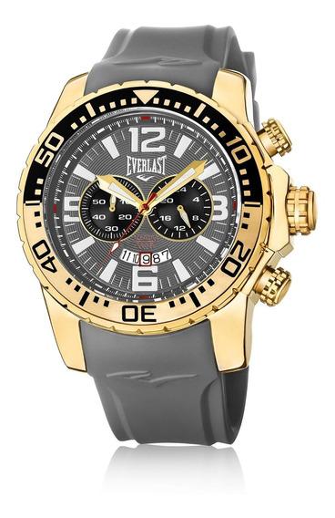 Relógio Pulso Everlast Masculino Cronografo Cinza E650