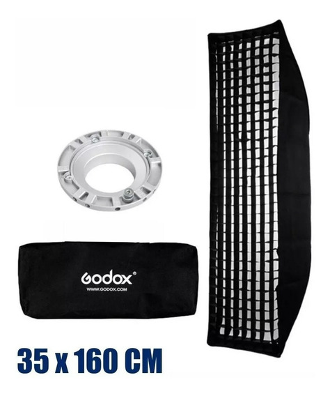 Softbox Strip Godox 35 X 160 Cm Tipo Bowens Com Grid