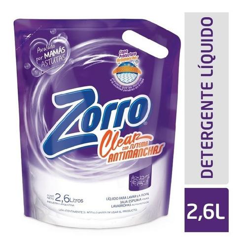 Detergente Líquido Zorro Clear Dp 2,6lt