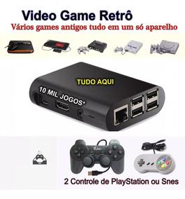Vídeo Game Retro Retrô Promoção 10000 Jogos + 2 Controles