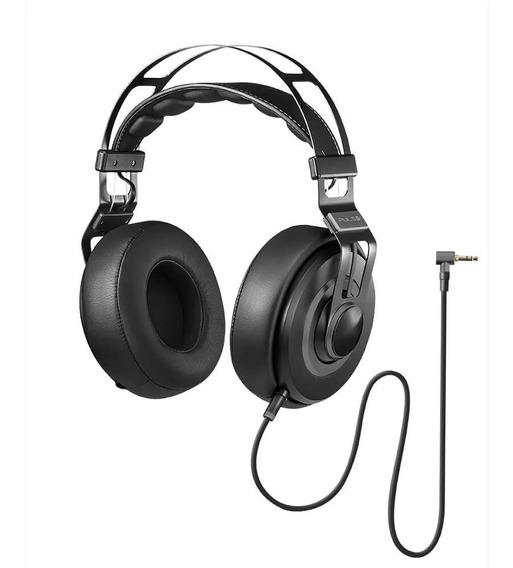 Fone De Ouvido Headphone Wired Large Preto Premium Ph237 Pul