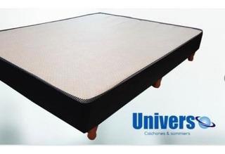 Universo Box Sommier Ecocuero 1 Plaza 190 X 80 Cm.