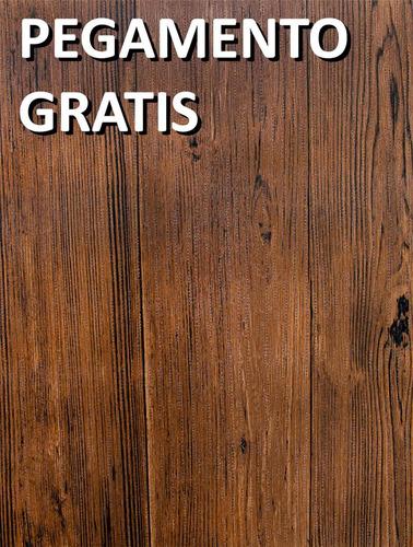 Imagen 1 de 10 de Papel Tapiz 3d Madera Oscuro .53x10m Rinde5.3m²