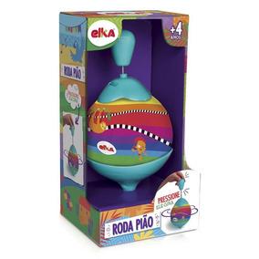 Brinquedos Meninos Jogo Clássico Roda Pião Rodopiar Elka