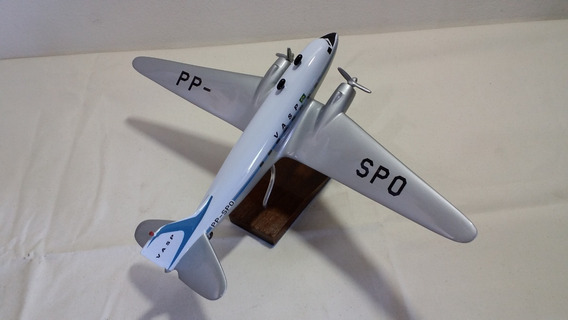 Miniatura De Avião C-47 Vasp