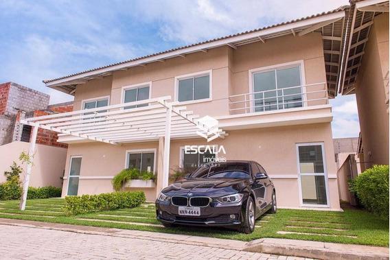 Casa Duplex Com 3 Quartos À Venda , 96m², Financia, 2 Vagas - Lagoa Redonda Fortaleza/ce - Ca0078