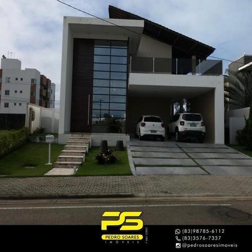 Casa Com 4 Dormitórios À Venda, 385 M² Por R$ 1.800.000 - Portal Do Sol - João Pessoa/pb Cod Ca0677 - Ca0677