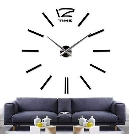 Reloj De Pared Vinil Diy La Mas Bella Y Moderna Decoracion