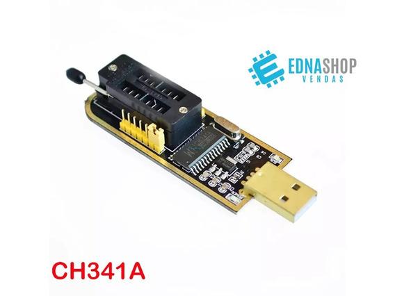 Gravador De Memoria Usb Eprom Flash Bios Ch341a