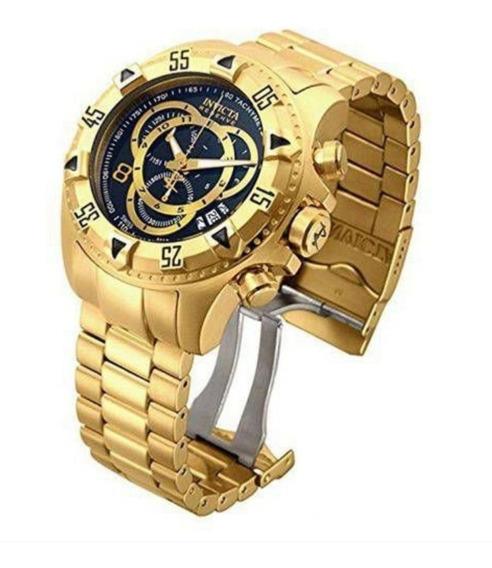Relógio Ex0333 Invicta 80624 Excursion Dourado Preto C/caixa