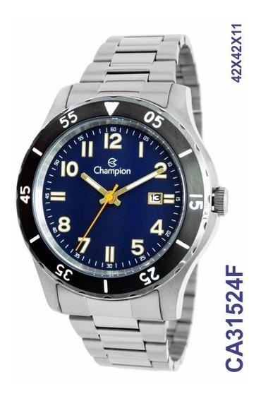 Relógio Masculino Prata Champion Ca31524f Original