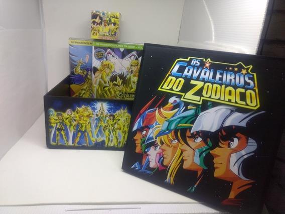 Coleção Cavaleiros Do Zodíaco Filmes Em Caixa Personalizada