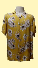Camisa Masculina Hawaiana 0071 (verifique Medidas)