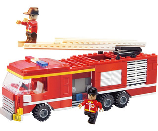 Camion De Bombero Cogo Fire Fighter Bloques