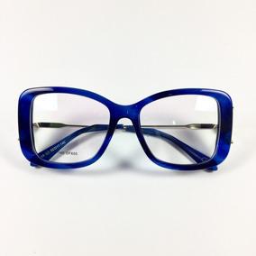 c3fa6e82a Oculos De Grau Feminino Vermelho Ou Vinho - Óculos Azul no Mercado ...