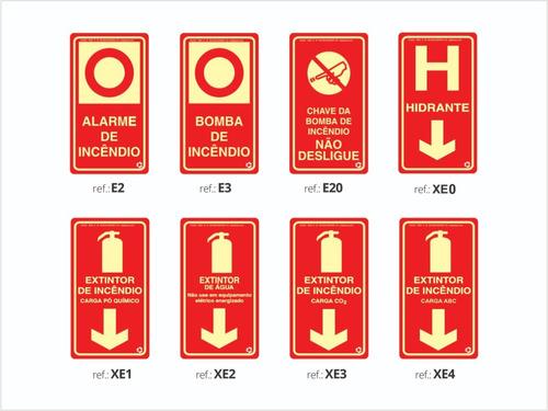 Imagem 1 de 10 de Placas Extintor Fotouminescente / Kit 25 Placas