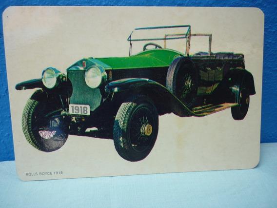 Tarjeta De Coche Antiguo Rolls Royce 1918.