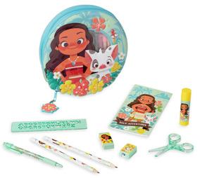 Disney Store Set Escolar Lapicera Moana 100% Original