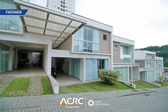 Acrc Imóveis - Sobrado Em Condomínio Fechado, Semi Mobiliado Para Venda No Bairro Água Verde - Ca01289 - 34837506