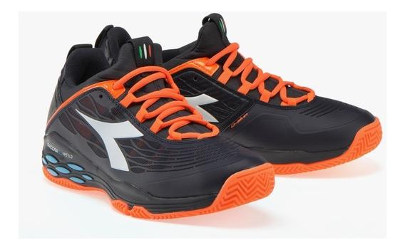 Zapatillas Diadora Speed Blushield Fly Ag Negro Tenis Padel