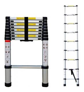 Escalera Portátil Telescópica 2.6 Metros Aluminio