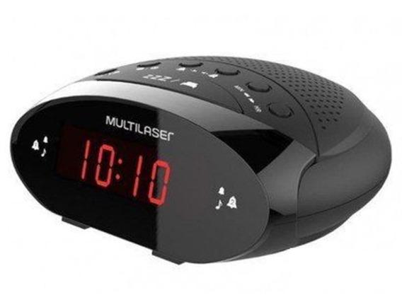 Radio Relogio Despertador Digital Alarme Multilaser Barato