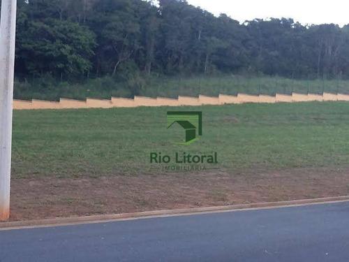 A Imobiliária Rio Litoral Oferece Terreno Localizado Condomínio  Alphaville  - Rio Das Ostras/rj. - Te0061
