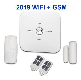 Kit Alarme Sem Fio Wifi + Gsm + App Android Ios Casa Empresa