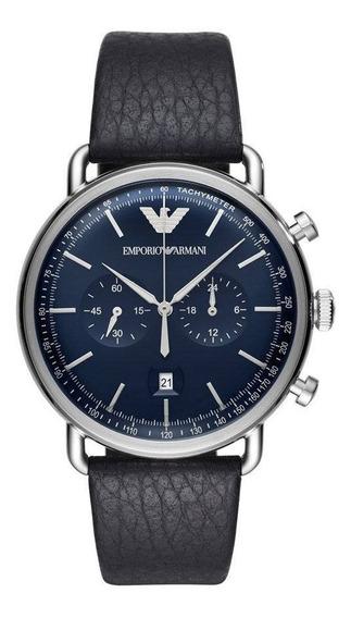 Relógio Empório Armani Classic Aviator Preto - Ar11105/0an