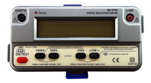 Imagen 1 de 7 de Megohmetro Digital Resistencia Aislamiento  Minipa Mi-2700