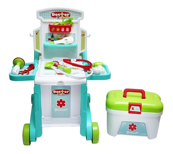Kit Medico Doctor Kids Juguete 3 En 1 Little Doctor