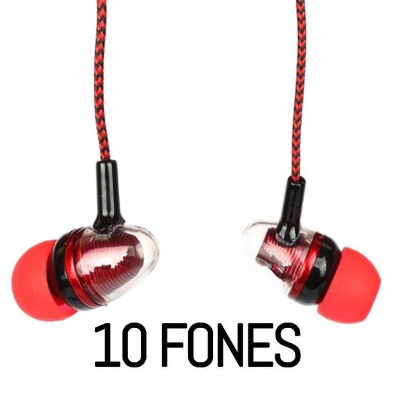 10 Peças Fone Ouvido Estéreo Isolado Revestimento Fibra