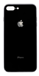 Tapa Trasera De Cristal iPhone 8 Plus Color Negro Detalle