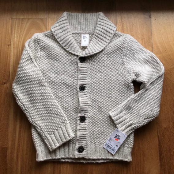 Sweater Cardigan Talle 4 Color Gris Osh Kosh