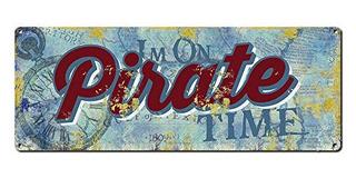 Pirata Decoración ~ Calibre 24 Acero Cartel ~ Bar Accesorios