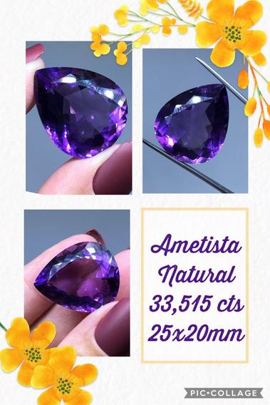 Ametista 33 515 Cts Gota Natural 25x20 Mm Limpa