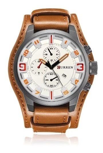 Relógio Masculino Curren Original Importado Couro + Caixa