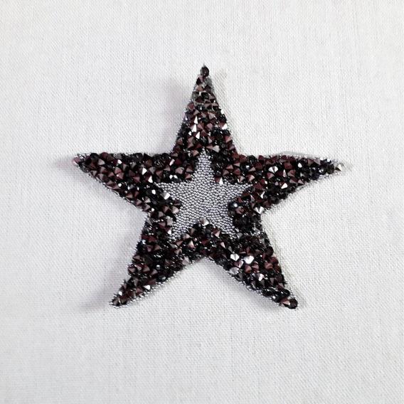 Ack-50435 Aplique Termoadhesivo De Estrella Strass Por 100un