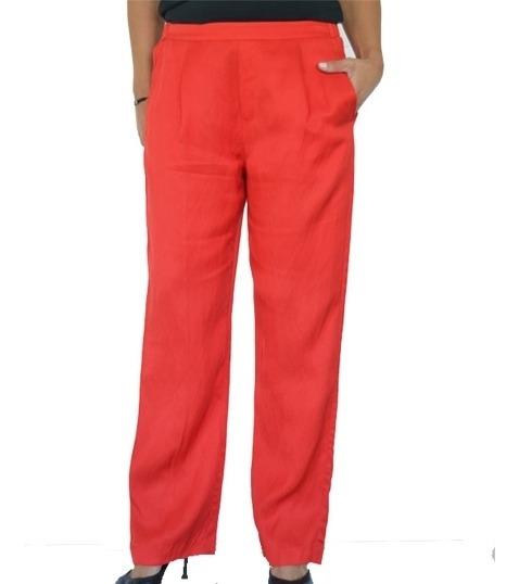 Pantalón De Vestir Mujer H&m Amplio Lino Tiro Alto